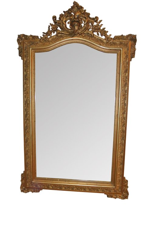 19th Century Gilt Wall Mirror