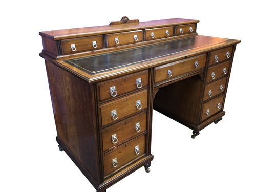 Antique Mahogany Desk By Maple & Co