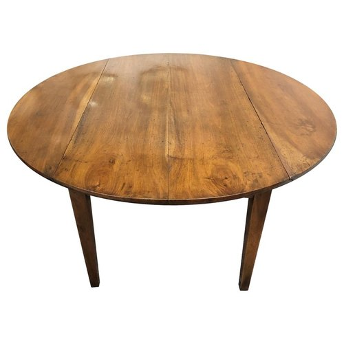 Circular French Antique Walnut Table