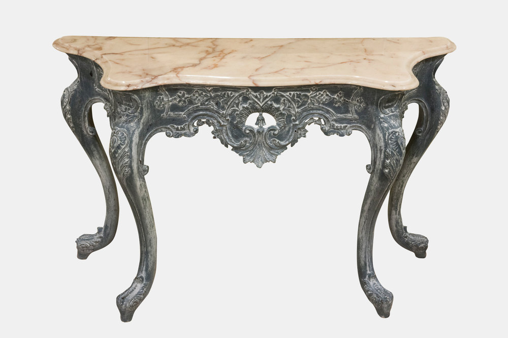 French Painted Console Table With Marble Top Antiques Atlas