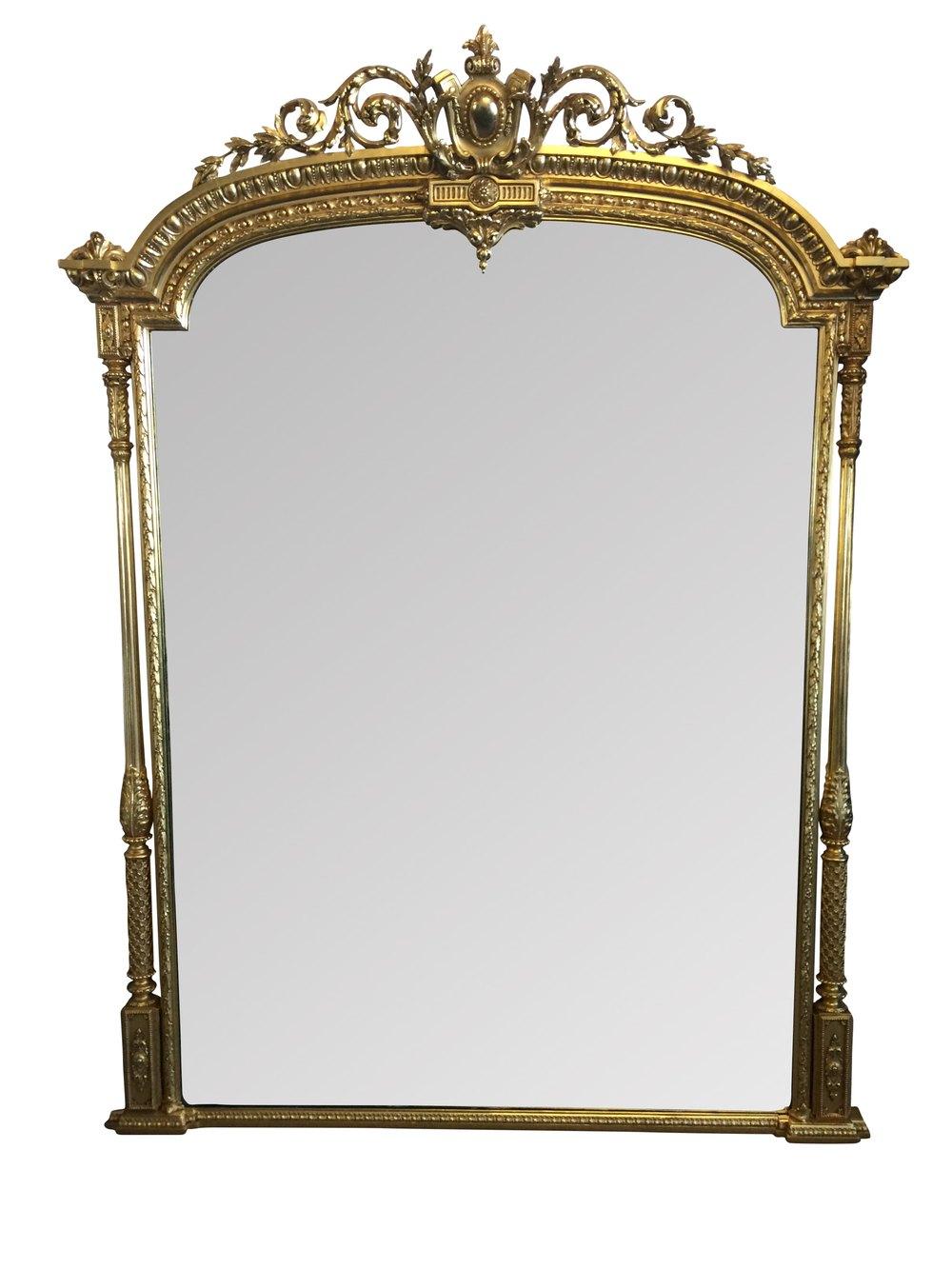 Antiques Atlas Large Antique Overmantel Mirror
