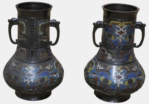 Antiques Atlas Pair Of Oriental Cloisonne Vases