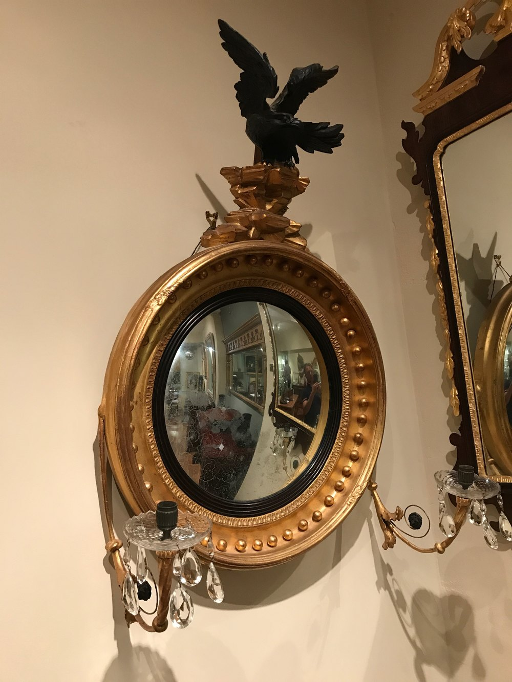 ... Mirrors Antique Regency Convex Nice Design
