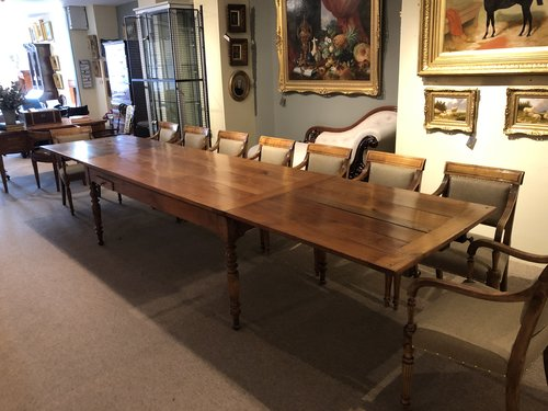 Very Large 19thc Cherrywood Extending Dining Table