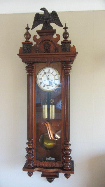 CategoryAntique Clocks / Vienna Wall Clocks Date1860 Mid Victorian Antiques MakerGustav Becker.
