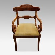 Antique mahogany desk chair & Mid 19th Century Antique Armchairs Occasional Chairs - Antiques Atlas