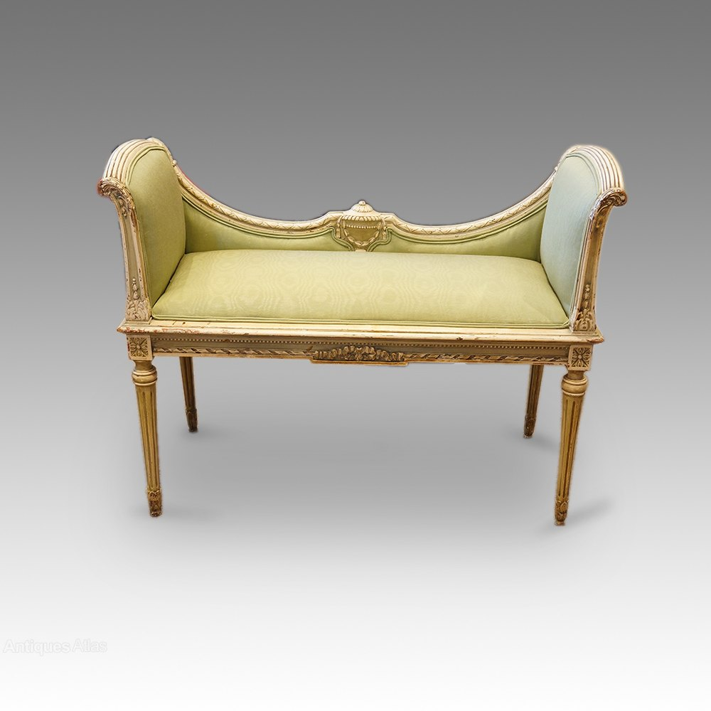 Outstanding French Decorated Window Seat Antiques Atlas Theyellowbook Wood Chair Design Ideas Theyellowbookinfo
