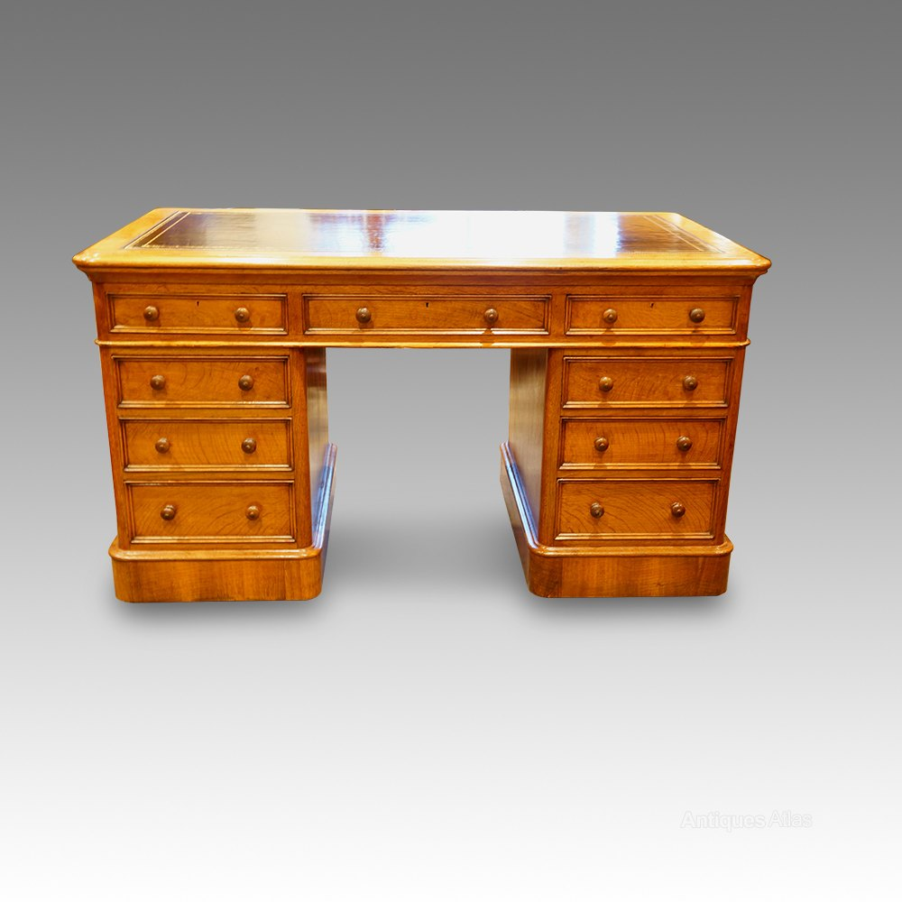 Victorian Oak Small Partners Desk