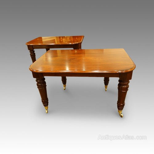 William iv mahogany 16 seat dining table antiques atlas for Dining room tables seat 16