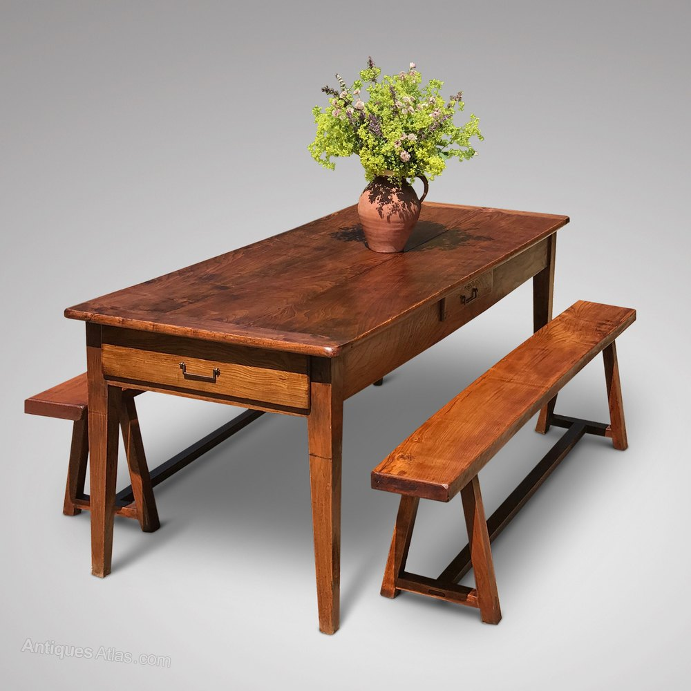 Beautiful th Century French Elm Dining Table Antique Farmhouse Tables
