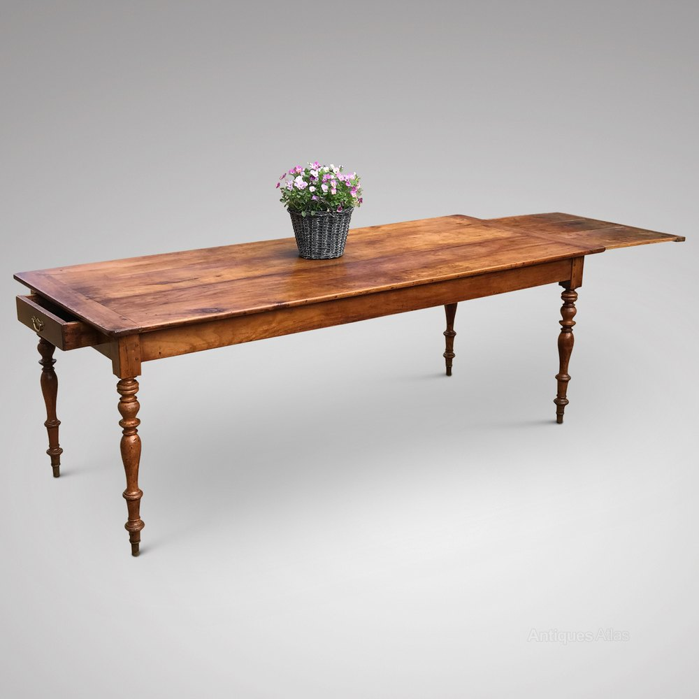 19th Century French Fruitwood Dining Table Antique Tables