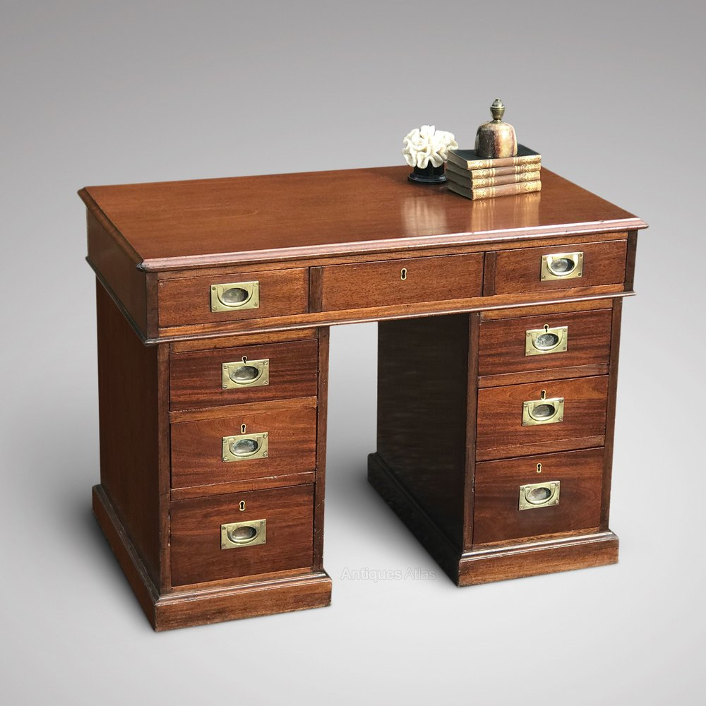 Early 20th Century Gany Campaign Desk Antique
