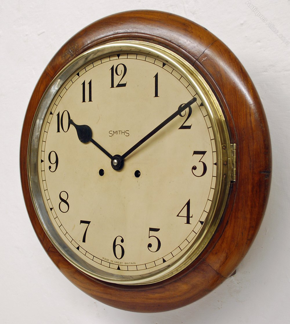 Antiques Atlas Anglo Indian Genuine Chiming Smiths Wall Clock