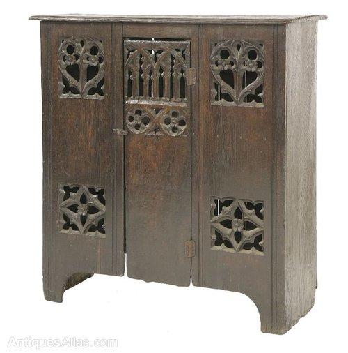 16thC Style English Antique Oak Aumbry Cupboard ... - 16thC Style English Antique Oak Aumbry Cupboard - Antiques Atlas