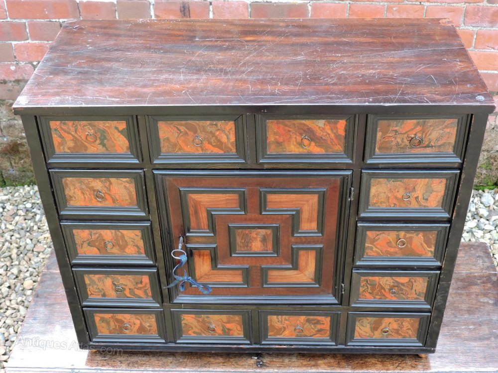 18thC Italian Antique Table Top Collectors Cabinet Antique Collectors  Cabinets and Museum Cabinets . - Antique - Antique Collectors Cabinet Antique Furniture