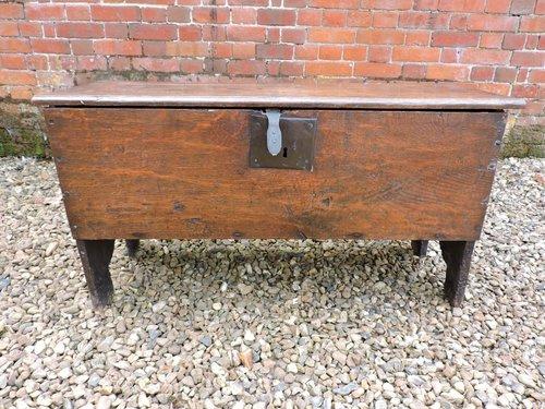Antique 6 Plank Oak Coffer Chest