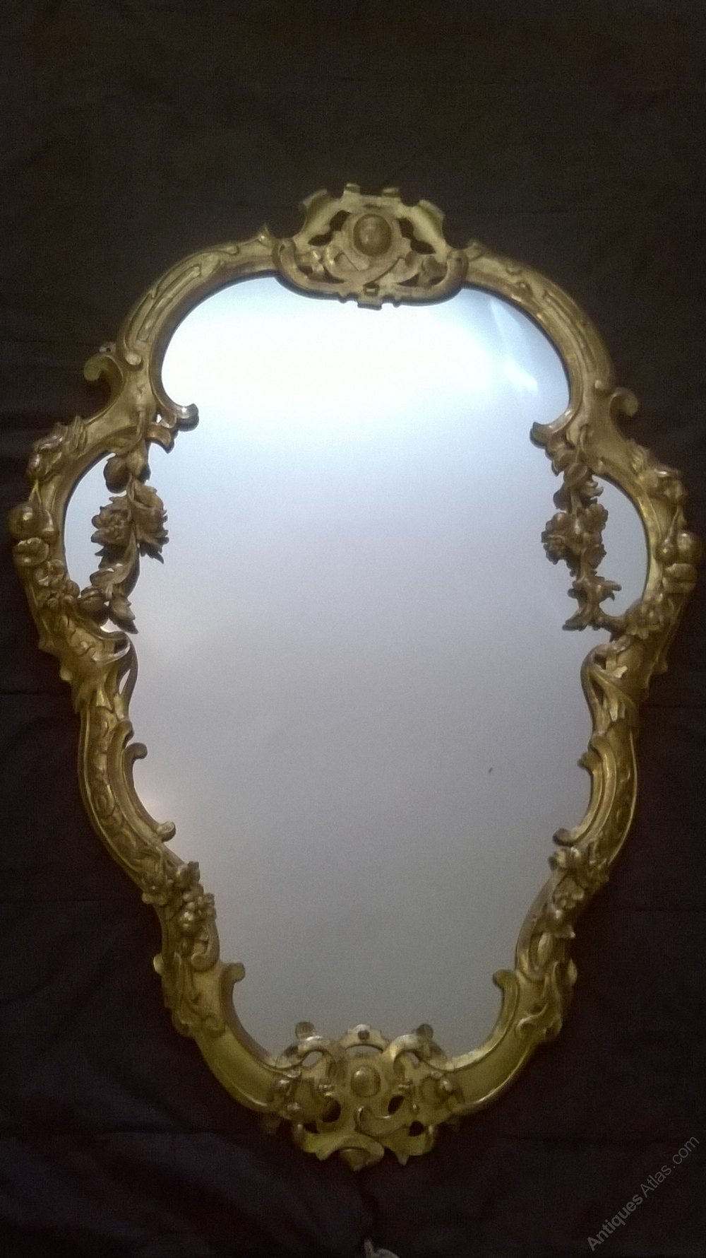 Antiques Atlas English Giltwood Antique Wall Mirror C1860