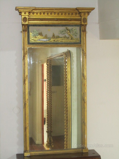 Antiques Atlas Regency Giltwood Pier Glass C 1815 Verre