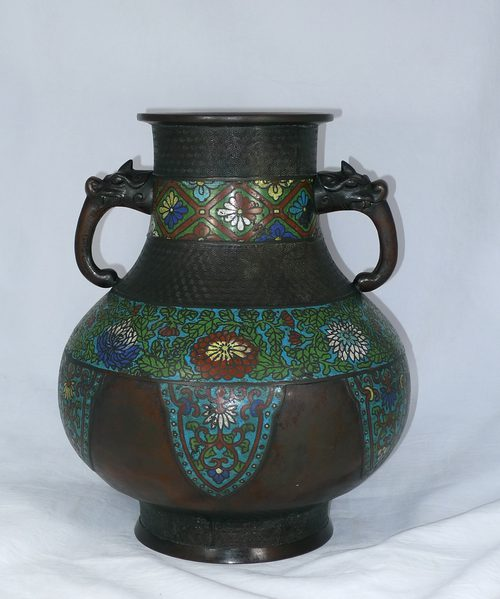 Antiques Atlas 19th C Japanese Bronze And Champleve Vase