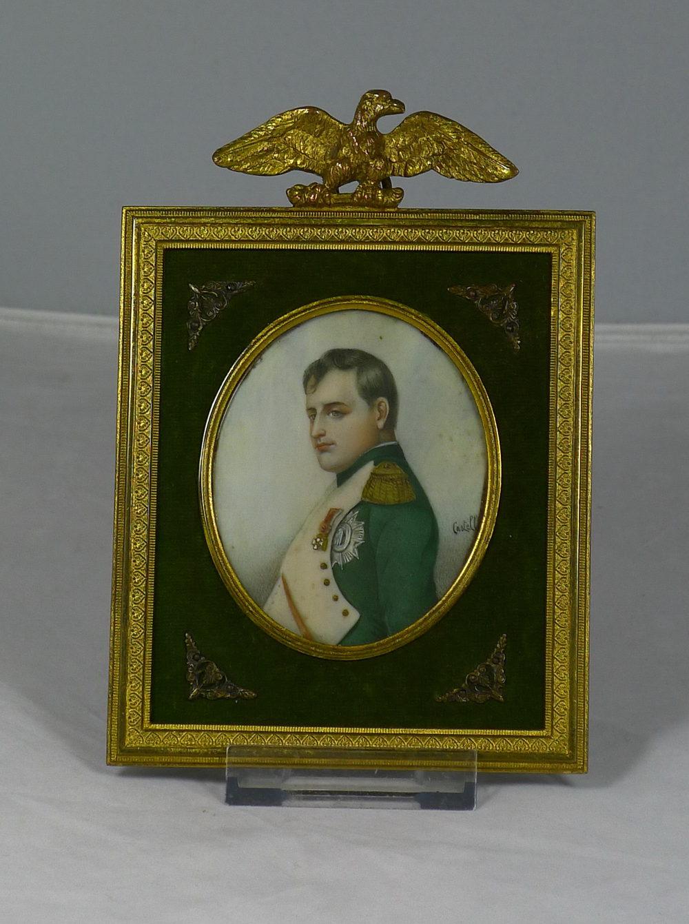 Antiques Atlas 19th C Miniature Portrait On Ivory Napoleon