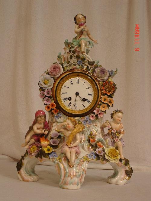 Antiques Atlas 19th Century Dresden Porcelain Clock