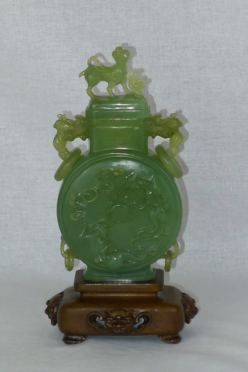 Antiques Atlas 19th Century Chinese Jade Vase And Cover
