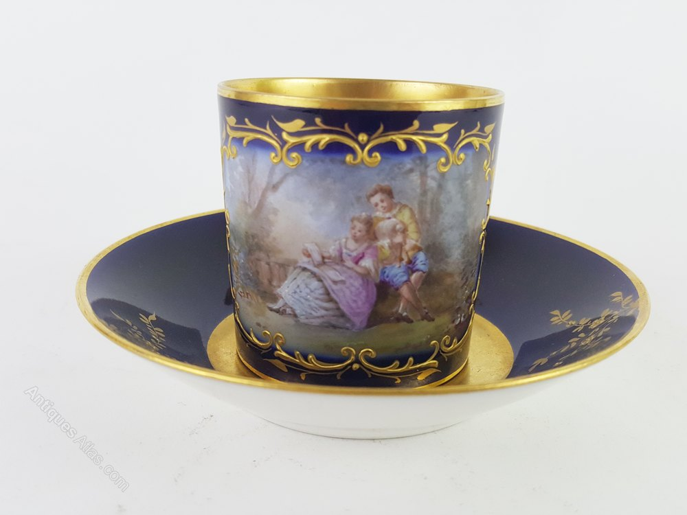 Antiques Atlas 19th Century Limoges Cup And Saucer