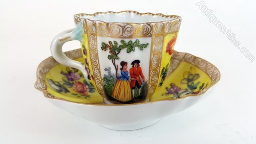 Antiques Atlas 19th Century Dresden Cup Saucer