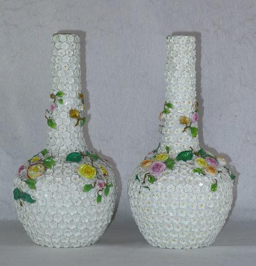 Antiques Atlas Decorative Pair 19th C German Vases