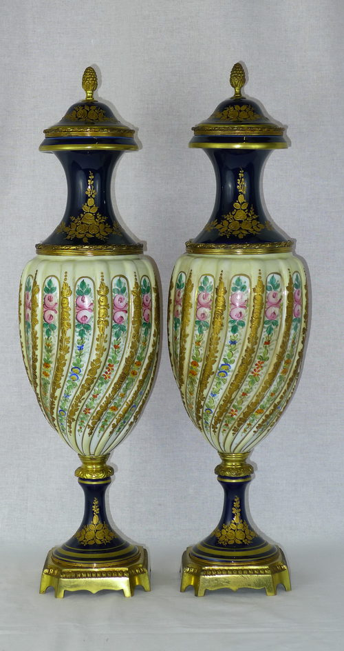 Antiques Atlas Fantastic Pair 19th C French Sevres Vases