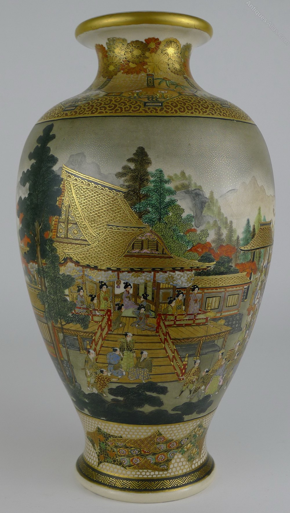 Antiques atlas fine quality 19th c japanese satsuma vase hozan fine quality 19th c japanese satsuma vase hozan reviewsmspy