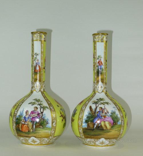 Antiques Atlas Pair 19th C Augustus Rex German Vases