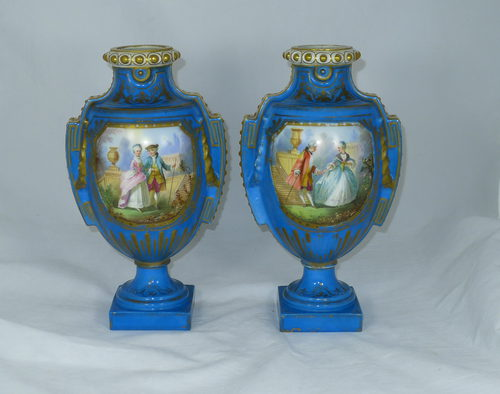 Antiques Atlas Pair 19th C French Sevres Vases