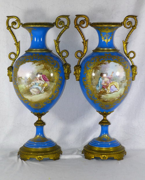 Antiques Atlas Pair 19th C French Sevres And Ormolu Vases