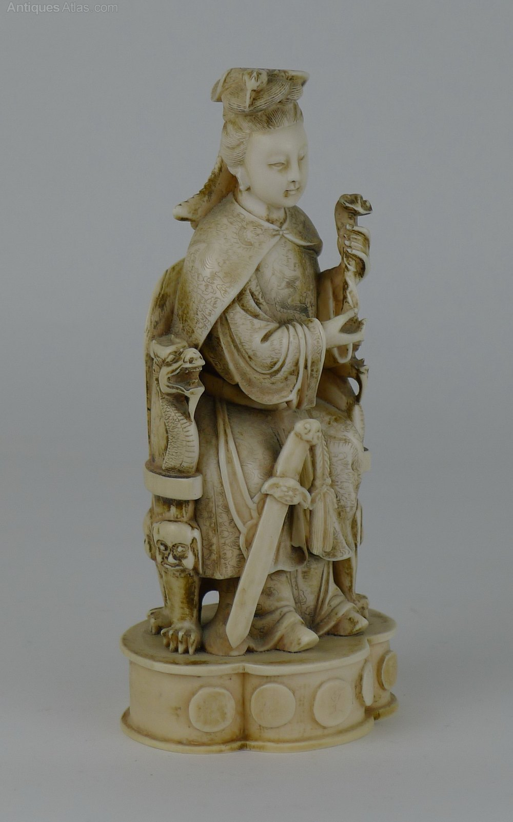 Dealer Com Login >> Antiques Atlas - Quality 19th C Chinese Ivory Goddess