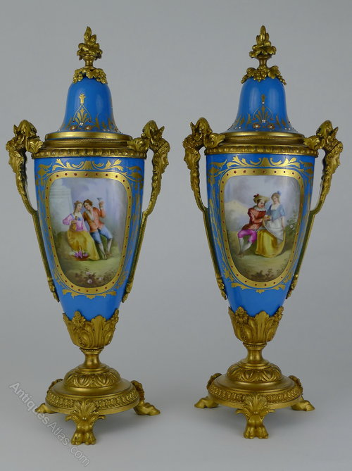Antiques Atlas Quality Pair 19th C French Sevres Ormolu Vases