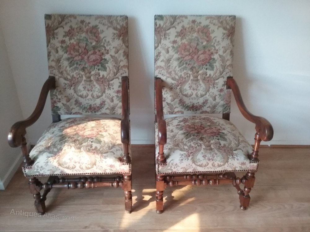 French Arm Chairs In Oak Circa 1800