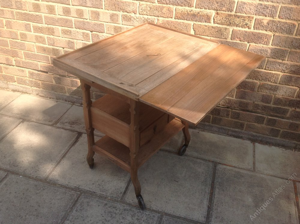 Arts And Craft Solid Walnut Serving Buffet /trolle ...