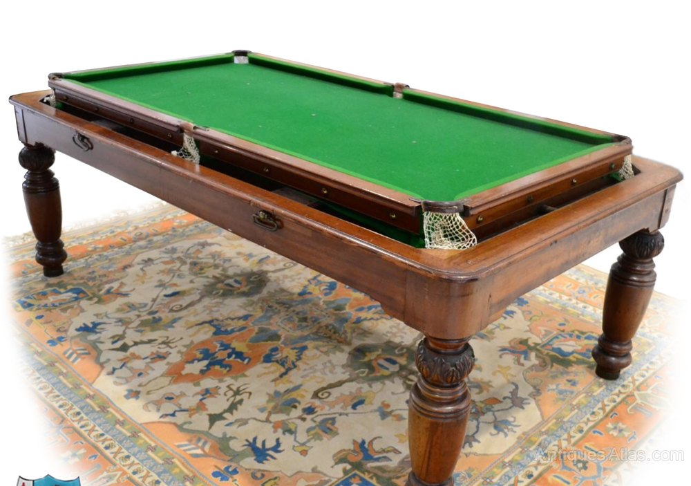 Antique Slate Snooker Billiard Dining Table