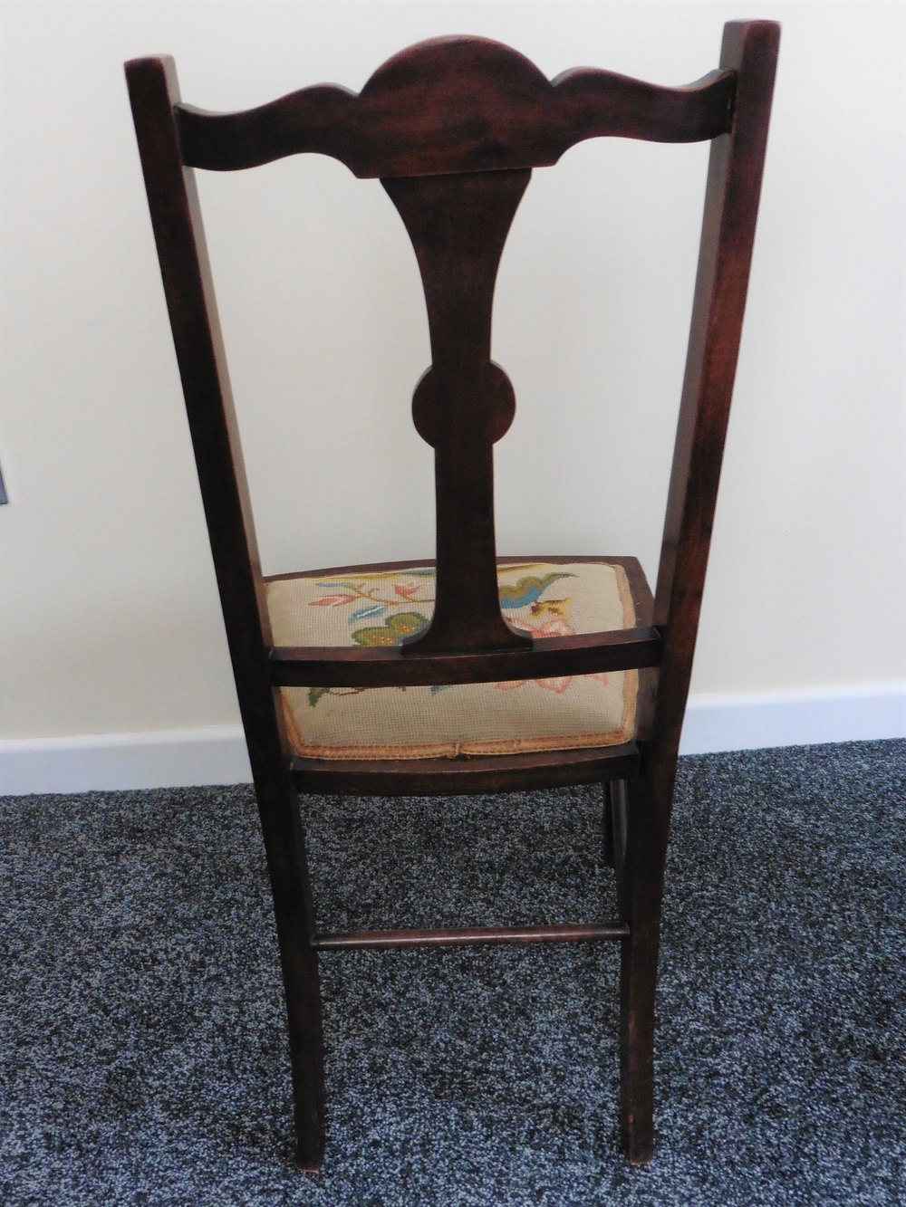 Pair Of Rosewood Inlaid Embroidered Bedroom Chairs Antiques Atlas