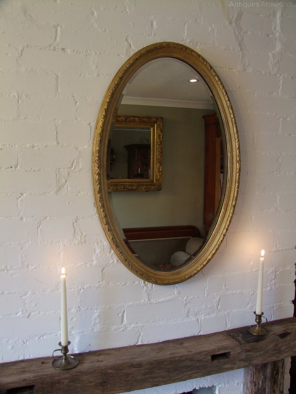 Antiques Atlas Oval Giltwood Mirror