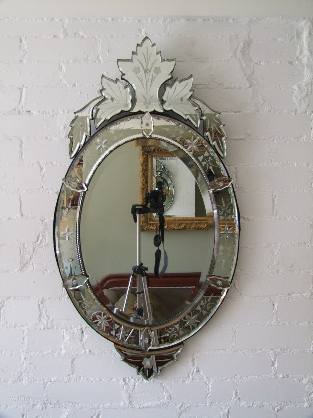 Antiques Atlas Oval Venetian Mirror