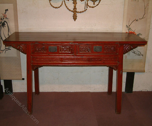 Antique Chinese Lacquered Altar Table