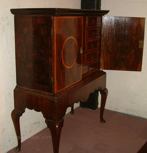 Queen Anne Period Walnut Cabinet On Stand Antiques Atlas