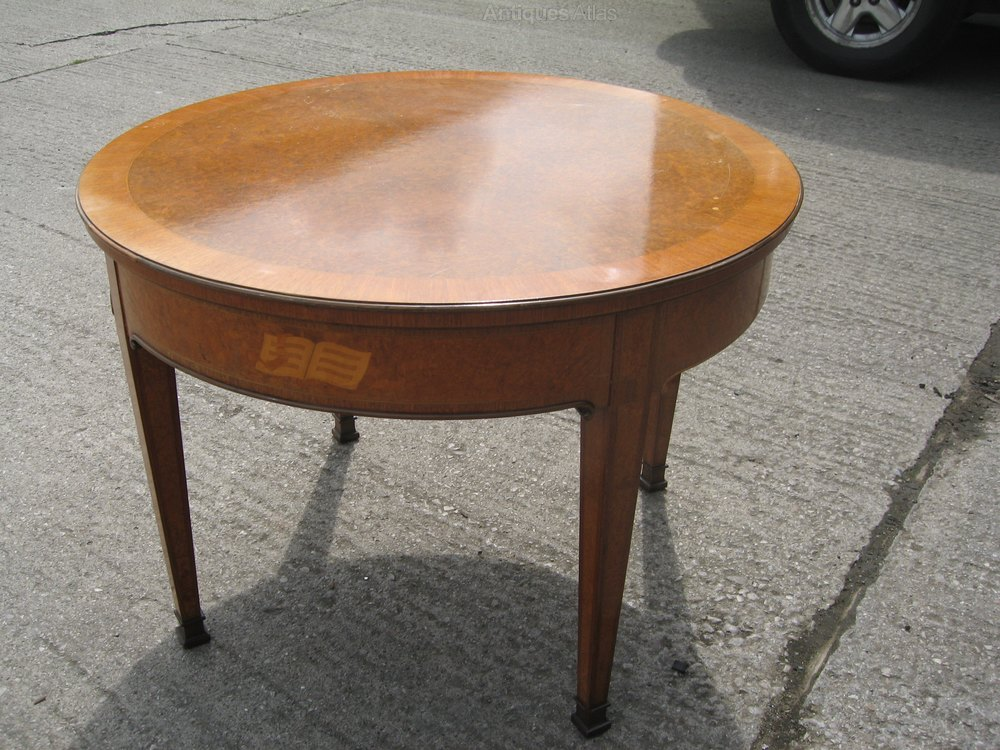 Antiques Atlas Burr Walnut Coffee Table Occasional