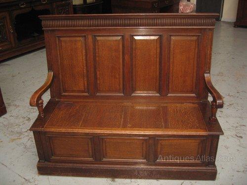 Brilliant Oak Bench Seat Short Links Chair Design For Home Short Linksinfo