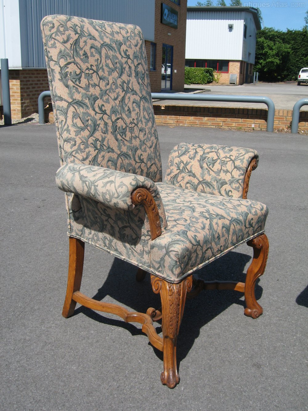Oak Chairs With Arms ~ Pair of oak arm chairs antiques atlas