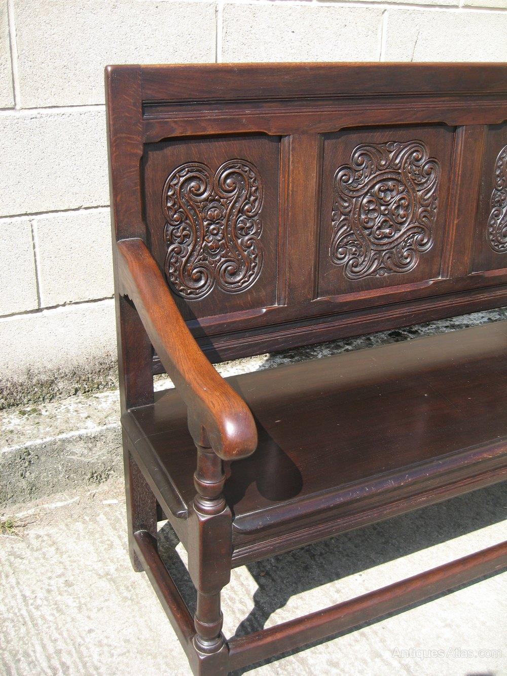 Small Oak Bench Seat Settle Antiques Atlas
