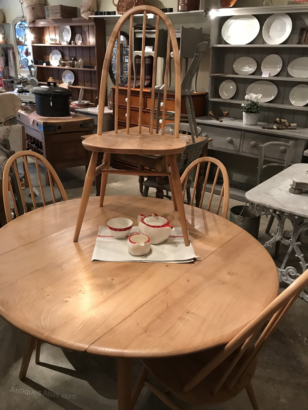 Antiques Atlas Vintage Ercol Blonde Table And Four