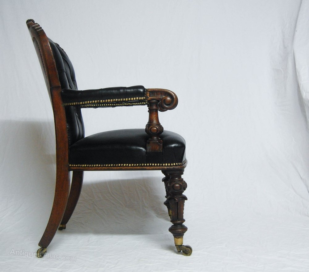 Early Victorian Desk Chair By Johnstone U0026 Jeanes Antique Desk Chairs  Johnstone Jeanes London ...